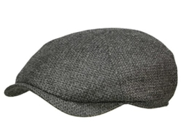 Wigens Newsboy slim cap 110380 Ballonmütze Schiebermütze Newsboy Cap - Dark Grey 55 -