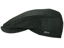 Wigens Per Loro Piana Flatcap Schiebermütze mit Ohrenklappen aus Wolle schwarz 57 -