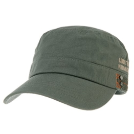 WITHMOONS Baseballmütze Army Cadet Cap Cotton Twill Side Embroidery Adjustable Hat CR4326 (Green) -