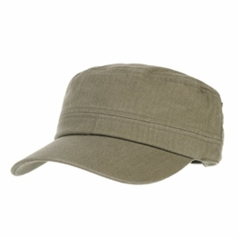WITHMOONS Baseballmütze Army Cadet Cap Herringbone Cotton Simple Adjustable Hat CR4266 (Brown) -