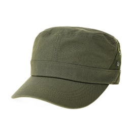WITHMOONS Baseballmütze Army Cadet Cap Side Mesh Rivets Summer Baseball Cap CR4744 (Green) -