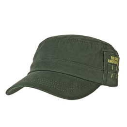WITHMOONS Baseballmütze Army Cadet Cap Cotton Twill Side Embroidery Adjustable Hat CR4265 (Green) -