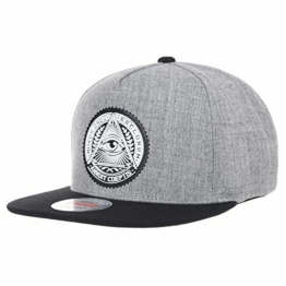 WITHMOONS Baseballmütze Mützen Caps Snapback Hat Illuminati Patch Hip Hop Baseball Cap AL2344 (Grey) -