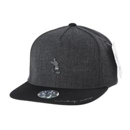 WITHMOONS Baseballmütze Mützen Caps Disney Mickey Mouse Silhouette Snapback Baseball Cap CR2268 (Grey) -