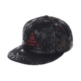 WITHMOONS Baseballmütze Mützen Caps Faux Leather Animal Print Black Snapback Hats Skull CR2230 (Red) -