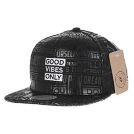 WITHMOONS Baseballmütze Mützen Caps Snapback Hat Glorious Enamel Lettering Hiphop Cap AL2454 (Black) -