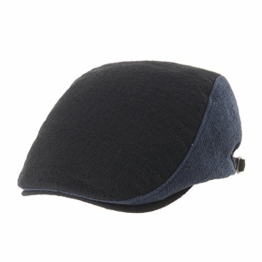 WITHMOONS Schlägermütze Golfermütze Schiebermütze Newsboy Flat Cap Two Tone Cool Neutral Color Ivy Hat LD3594 (Black) -