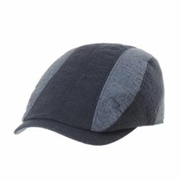 WITHMOONS Schlägermütze Golfermütze Schiebermütze Newsboy Hat Flat Cap Cotton Vertical Stripe Ivy Hat LD3592 (Navy) -