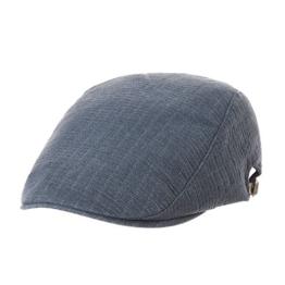 WITHMOONS Schlägermütze Golfermütze Schiebermütze Newsboy Flat Cap Cool Cotton Stripe Ivy Hat LD3070 (Navy) -