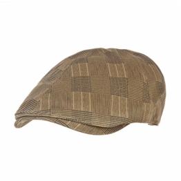 WITHMOONS Schlägermütze Golfermütze Schiebermütze Tartan Check Newsboy Hat Flat Cap SL3224 (Brown) -