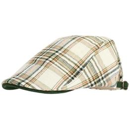 WITHMOONS Schlägermütze Golfermütze Schiebermütze Classical Plaid Check Pattern Newsboy Hat Flat Cap LD3075 (Green) -