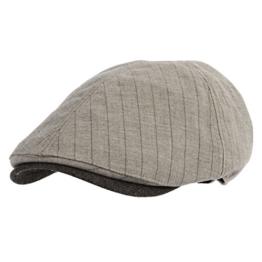 WITHMOONS Schlägermütze Golfermütze Schiebermütze Diagonal Herringbone Newsboy Hat Flat Cap SL3048 (Beige) -