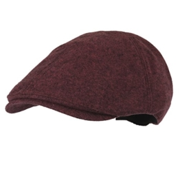 WITHMOONS Schlägermütze Golfermütze Schiebermütze Melange Cotton Newsboy Hat Flat Cap SL3027 (Purple) -