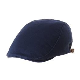 WITHMOONS Schlägermütze Golfermütze Schiebermütze Newsboy Flat Cap Twill Cotton Plain Cool Ivy Hat LD3600 (Navy) -