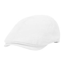 WITHMOONS Schlägermütze Golfermütze Schiebermütze Simple Newsboy Hat Flat Cap SL3026 (White) -
