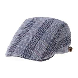 WITHMOONS Schlägermütze Golfermütze Schiebermütze Tartan Checks Plaid Pattern Newsboy Hat Ivy Cap LD3734 (Navy) -