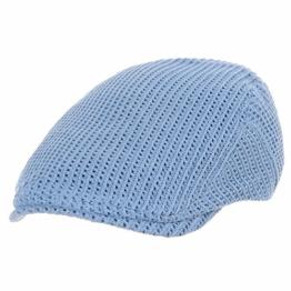 WITHMOONS Schlägermütze Golfermütze Schiebermütze Flat Cap Vintage Style Crochet Knitted Fabric Ivy Hat SL3412 (Sky) -