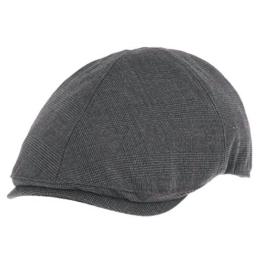 WITHMOONS Schlägermütze Golfermütze Schiebermütze Trendy Glen Plaid Check Pattern Newsboy Hat Flat Cap SL3356 (Charcoal) -