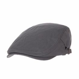 WITHMOONS Schlägermütze Golfermütze Schiebermütze Cotton Simple Vintage Newsboy Hat Flat Cap AC3225 (Grey) -