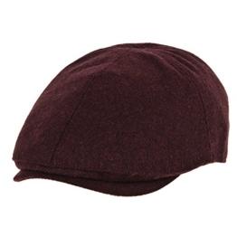 WITHMOONS Schlägermütze Golfermütze Schiebermütze Wool Newsboy Hat Flat Cap SL3021 (Blackred) -