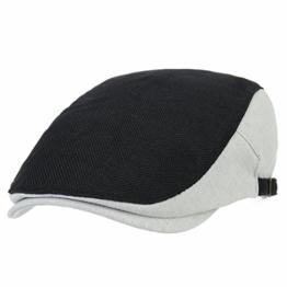 WITHMOONS Schlägermütze Golfermütze Schiebermütze Two Tone Block Summer Newsboy Hat Flat Cap AC3046 (Black) -