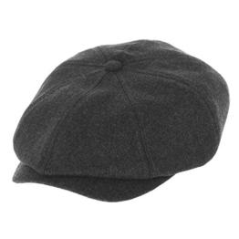 WITHMOONS Schlägermütze Golfermütze Schiebermütze Newsboy Hat Wool Felt Simple Gatsby Ivy Cap SL3458 (Charcoal) -