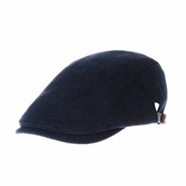 WITHMOONS Schlägermütze Golfermütze Schiebermütze Wool Soft Melange Simple Newsboy Hat Flat Cap SL3126 (Blue) -