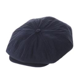 WITHMOONS Schlägermütze Golfermütze Schiebermütze Cool Cotton Baker Boy Flat Cap Monochrome Beret Ivy Hat LD3603 (Navy) -
