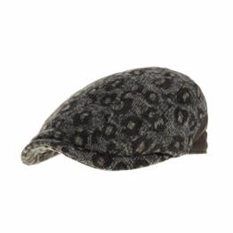 WITHMOONS Schlägermütze Golfermütze Schiebermütze Wool Leopard Animal Pattern Newsboy Hat Flat Cap LD3165 (Brown) -