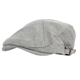 "WITHMOONS Schlägermütze Golfermütze Schiebermütze Modern Cotton ""REAL;"" Newsboy Hat Flat Cap AC3045 (Gray) -"