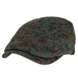 WITHMOONS Schlägermütze Golfermütze Schiebermütze Mens Flat Cap Camouflage Vertical Stitch Ivy Hat LD3438 (Green) -