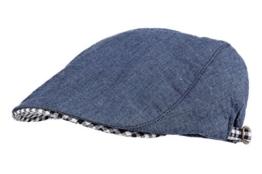 WITHMOONS Schlägermütze Golfermütze Schiebermütze Denim Summer Cool Cotton Newsboy Cap LD3069 (Blue) -