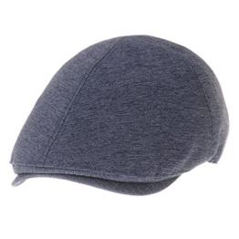 WITHMOONS Schlägermütze Golfermütze Schiebermütze Newsboy Hat Pin Stripe Cool Cotton Flat Cap SL3377 (Navy) -
