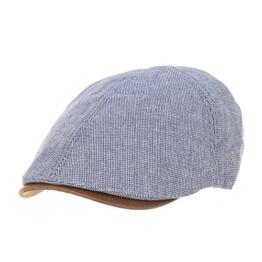 WITHMOONS Schlägermütze Golfermütze Schiebermütze Trendy Houndstooth Pattern Cotton Newsboy Hat Flat Cap SL3245 (Blue) -