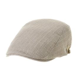 WITHMOONS Schlägermütze Golfermütze Schiebermütze Newsboy Flat Cap Cool Cotton Stripe Ivy Hat LD3663 (Brown) -