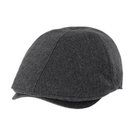 WITHMOONS Schlägermütze Golfermütze Schiebermütze Mens Flat Cap Simple Classic Bocaci Cotton Ivy Hat SL3651 (Charcoal) -