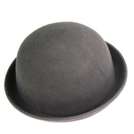Yahee Melone Bowler Mütze Hut Bowlerhut Bowlerhat Filzhut Chaplin Hat Reithut (Gray) -