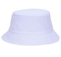 YL Damen Baumwolle Fischerhut Candy Farbe Sonnenhut Strandmütze (Weiß) -
