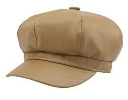 YL Damen PU Schirmmütze Ballonmütze Einheitsgröße Regenmütze (Khaki) -