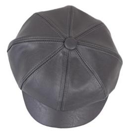 YL Damen PU Schirmmütze Ballonmütze Einheitsgröße Regenmütze (Dunkelgrau) -